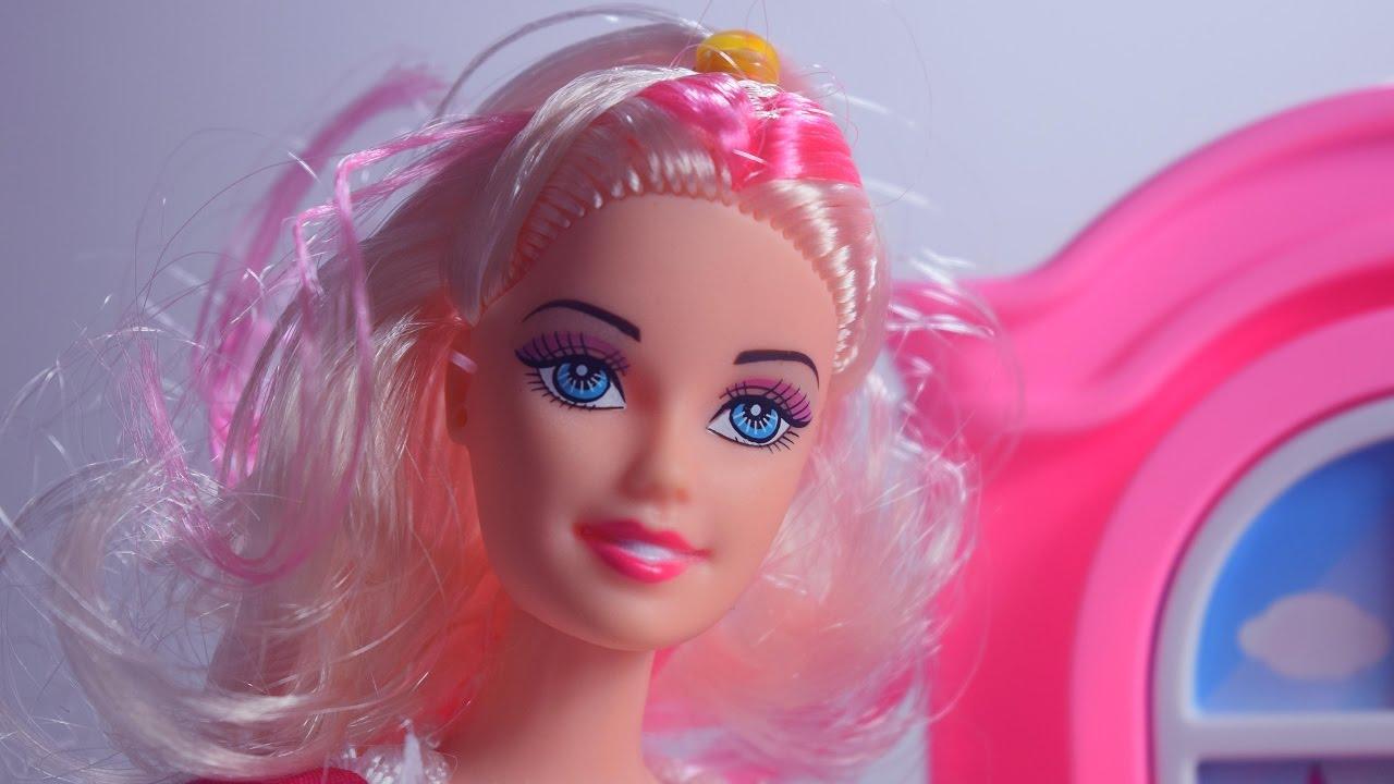 Barbie Kitchen Set Toy Kitchen Barbie Dolls Barbie Doll House Little Chef Cooking Youtube