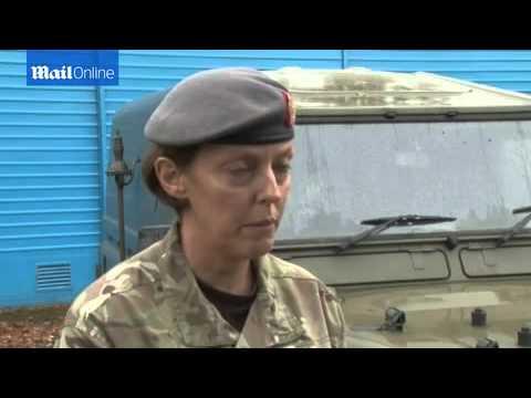 Lt Col Alison McCourt on her deployment...