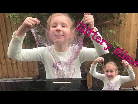 How to make glittery slime! Super slimy! Best recipe and slime ever