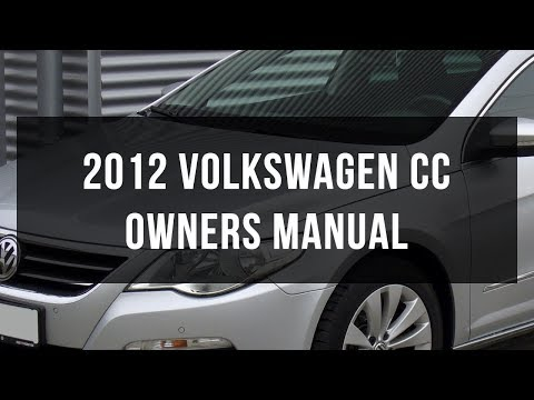 2012 volkswagen cc owners manual pdf