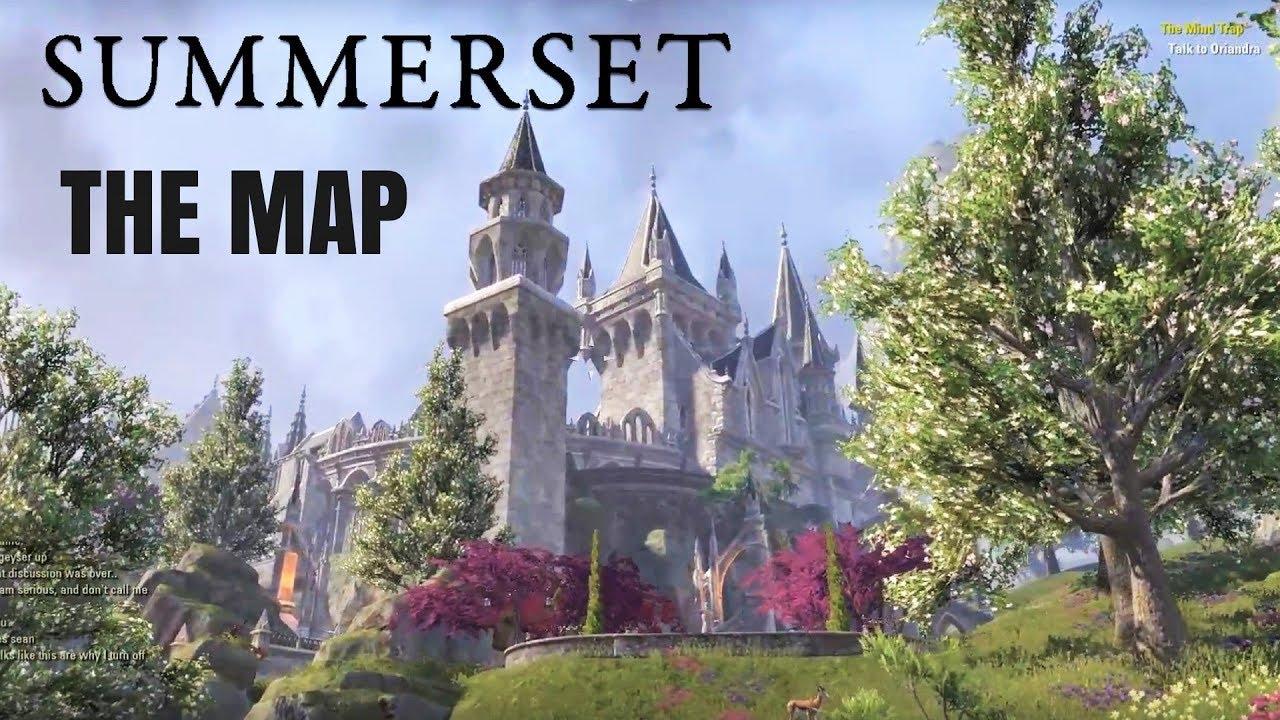 HOW BIG IS THE MAP in The Elder Scrolls Online: Summerset? Walk ...