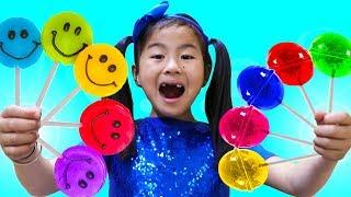 Bài Hát Thiếu Nhi Kẹo Cầu Vồng Lolipop | Jannie Học Màu Sắc Với Kẹo Cầu Vồng