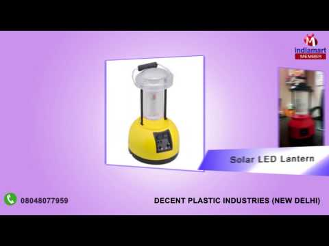 Solar Products by Decent Plastic Industries, New Delhi