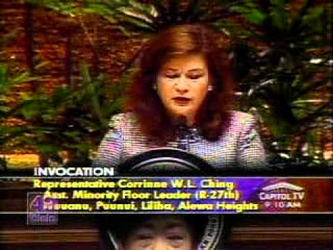 Representative Corinne Ching Invocation in the House of Representatives