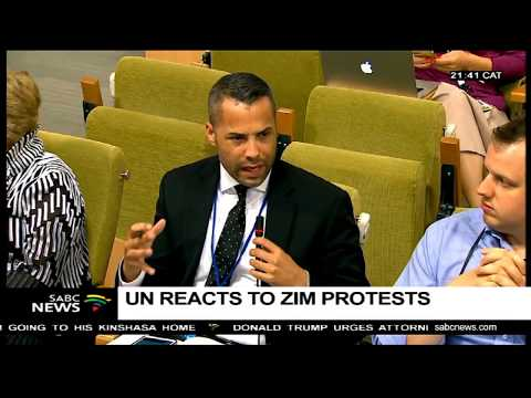 UN reacts to Zimbabwe protests