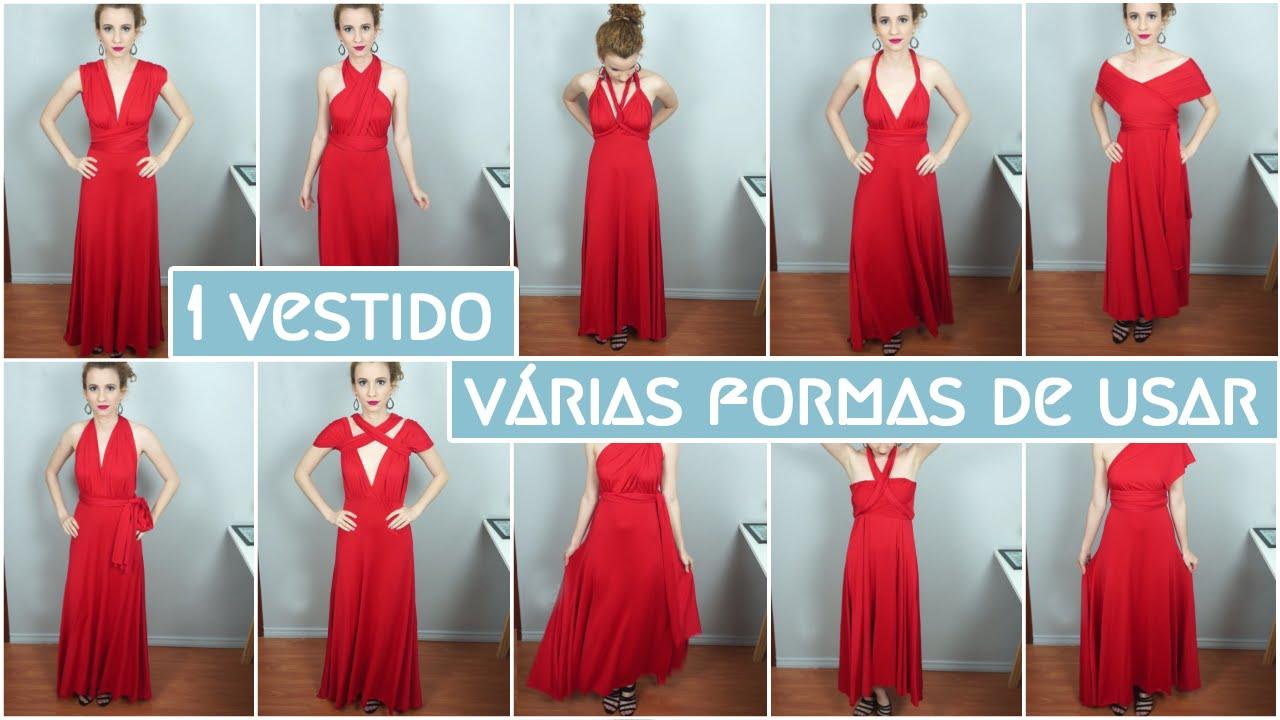 1d1c23e52 Um vestido - Várias formas de usar - YouTube