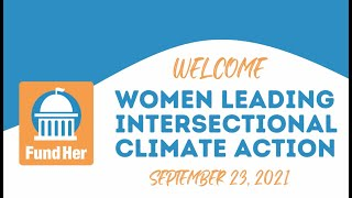 Women Leading Intersectional Climate Action