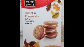 Market Pantry Pumpkin Cheesecake Creme Sandwich Cookies Review