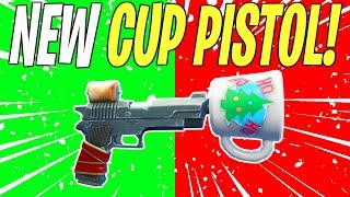 NEW CHRISTMAS CUP PISTOL! Cocoa 45 All Legendary Perks Review | Fortnite Save The World