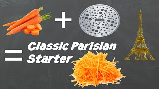 Salad of Grated Carrot with Vinaigrette ( french dressing) - Parisian Classic