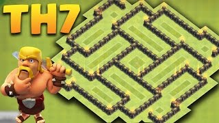 CLASH OF CLANS - Town hall 7 (Th7) NEW Hybrid Base 2016 + Defence Replays