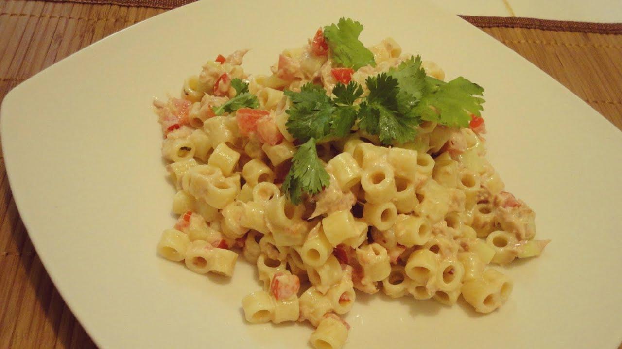Ensalada fria de atun y pasta youtube - Ensalada de arroz con atun ...