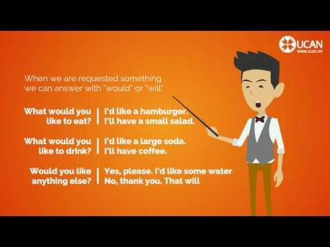 17  Learn English Conversation  Lesson 17  What would you like to eat