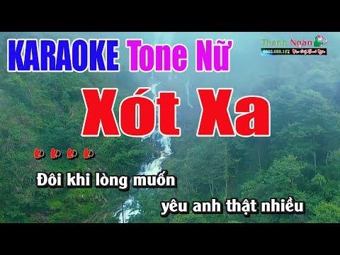 Xót Xa Karaoke 9587 | Tone Nữ - Nhạc Sống Thanh Ngân
