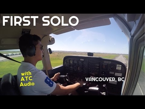 FIRST SOLO - CESSNA 172 | Vancouver, BC | ATC Audio