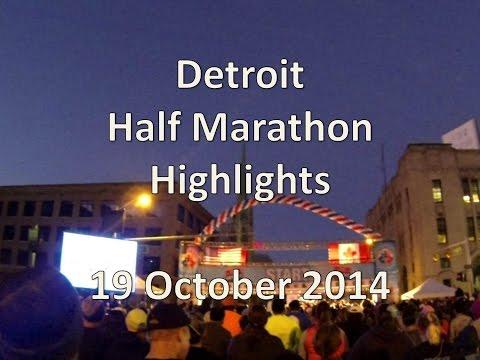 Detroit Windsor International Half Marathon Highlights October 2014 GoPro