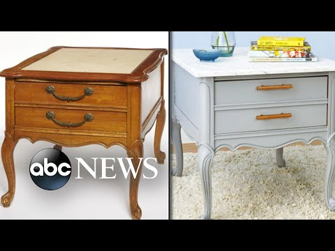 From trash to treasure: Lara Spencer revamps old furniture