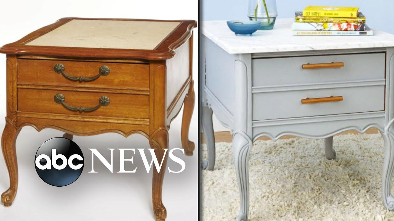 From Trash To Treasure Lara Spencer Revamps Old Furniture