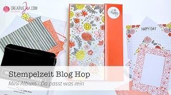 Stempelzeit Blog Hop: Mini-Album - Da passt was rein