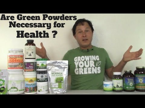Are Green Powder Super Foods Necessary for Health ?