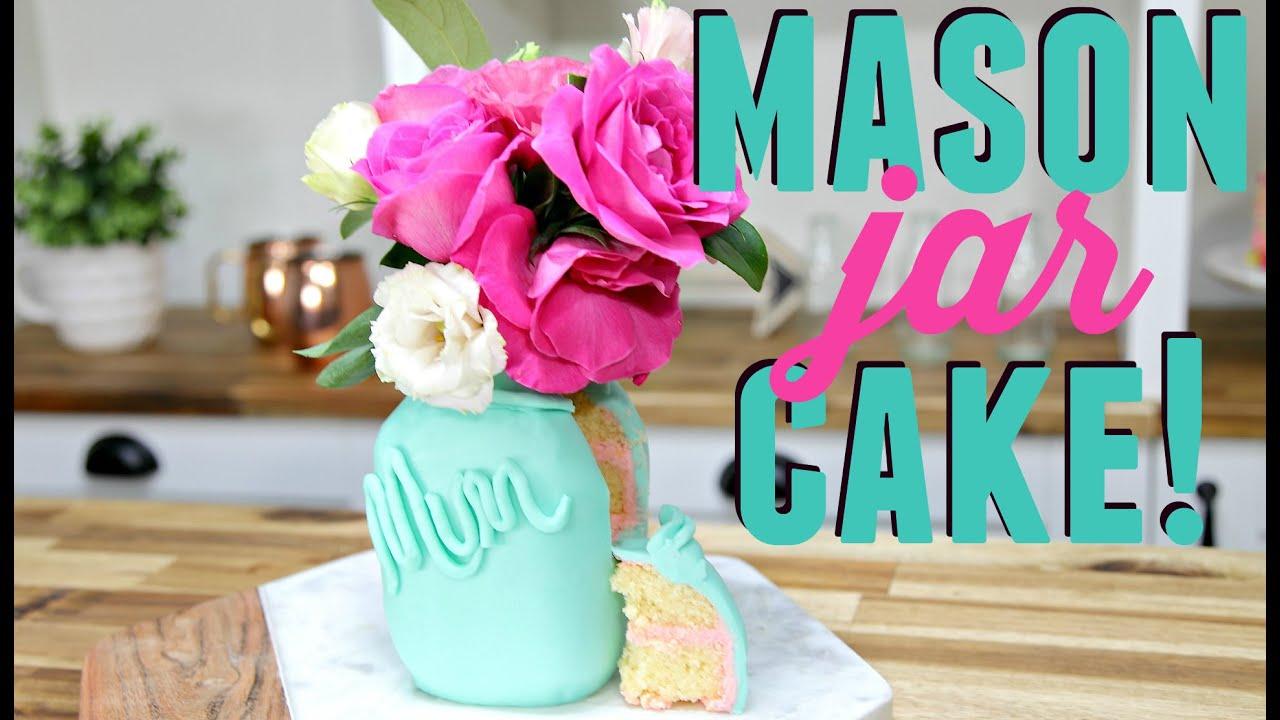 how to make a mason jar shaped cake