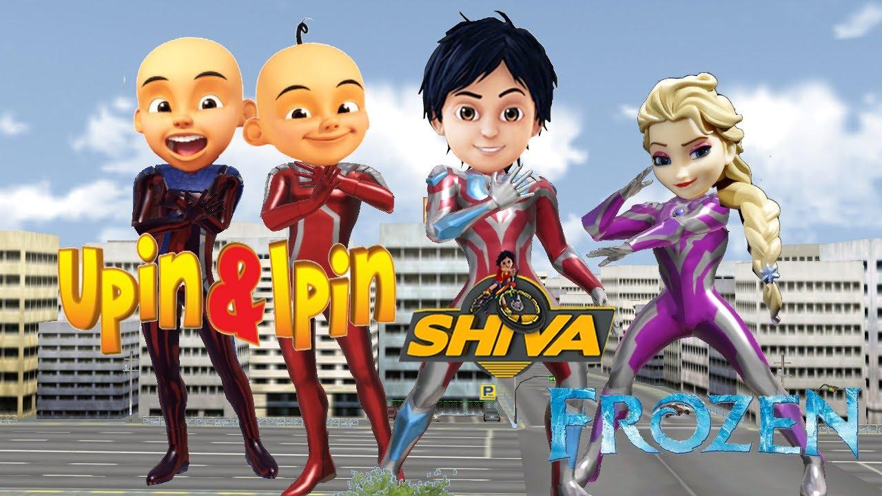 Download SHIVA ANTV UpinIpin Frozen Elsa Super Animasi  into Ultraman Ginga NurseryRhymes