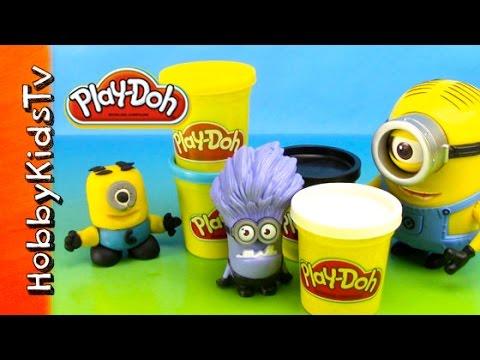 PLAY-DOH Minion Stuart! Despicable ME Yellow Minion Sculpt w/HobbyDad HobbyKidsTV