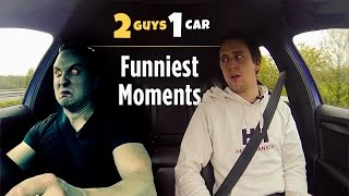 the 10 funniest moments from 2 guys 1 car