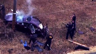 Oklahoma police chase ends in dramatic crash