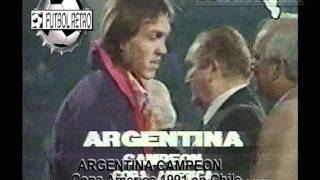 ARGENTINA Campeon Copa America Chile 1991 FUTBOL RETRO TV