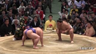 2017大相撲大阪春場所での高安 vs 正代の取組。
