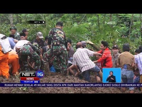 Hujan Deras Akibatkan Banjir dan Longsor Di Jawa Tengah dan Jawa Timur - NET16