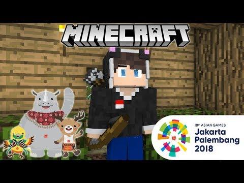 Meraih Bintang (Via Vallen) | Asian Games 2018 | Minecraft Animation Indonesia