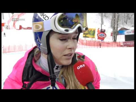 Lindsey Vonn Sochi interview after cancelled SC