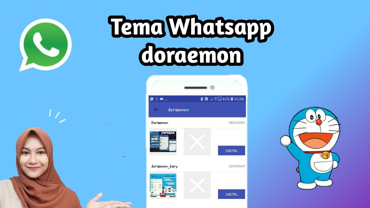 Cara Mengubah Tema Whatsapp Doraemon Terbaru Youtube