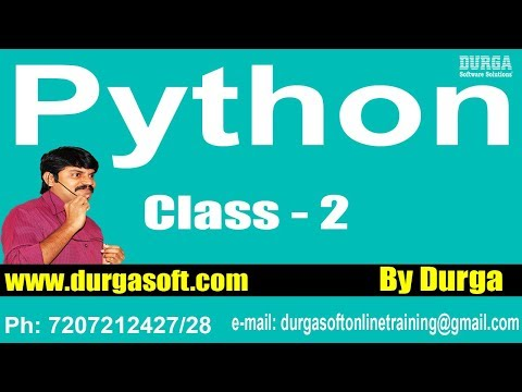 Learn Python Programming Tutorial Online Training by Durga Sir On 27-01-2018