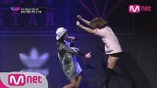 [Unpretty Rapstar]ep.06: Jimin & Kisum @ team work battle(′욕해? go ahead!′ 지민&키썸)