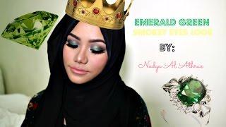 NadyaAlAthrus: Bahasa - Emerald Glam Smokey Eyes Look