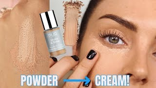 TRANSFORMING POWDER TO CREAM CONCEALER? One-Step Baking for Creaseless Undereyes \\ Review