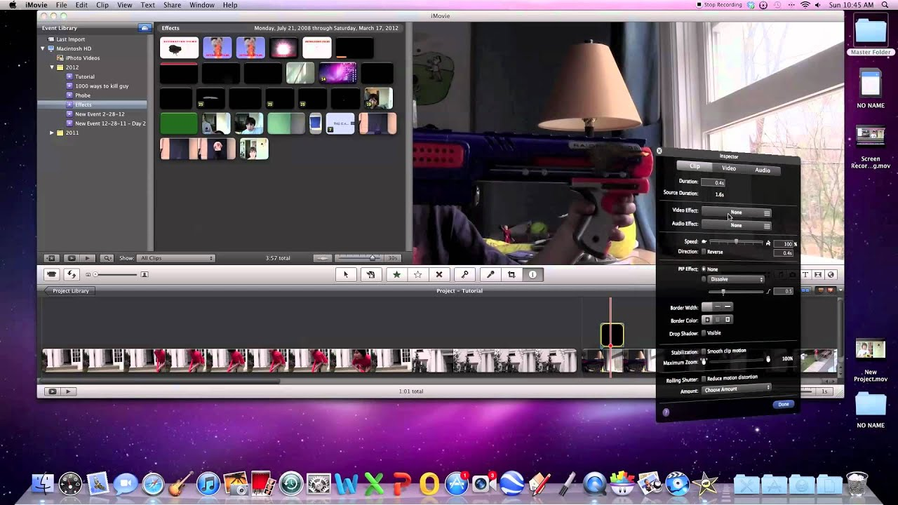 How to add free pre-keyed effects to your videos in imovie - YouTube