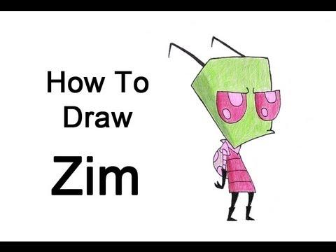 How to Draw Zim - YouTube