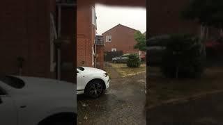 U.K. weather... Thunder and flash flooding 27 July 2018