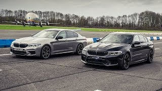 BMW M5 Competition vs BMW M5 by DMS | Drag Races | Top Gear