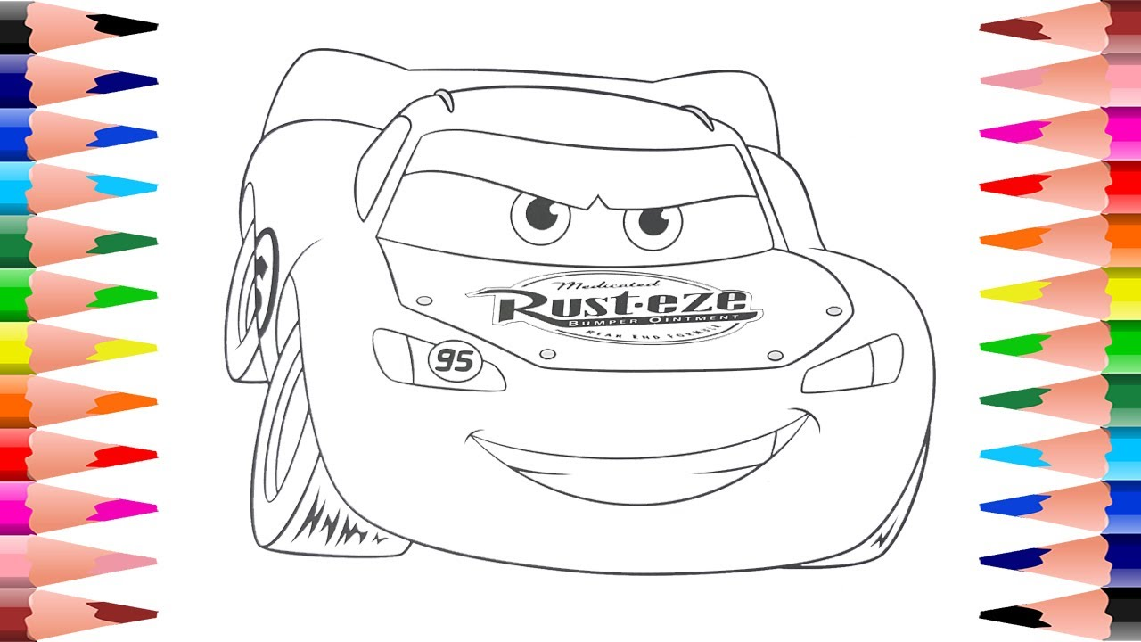 coloring lightning mcqueen disney pixar cars painting disney