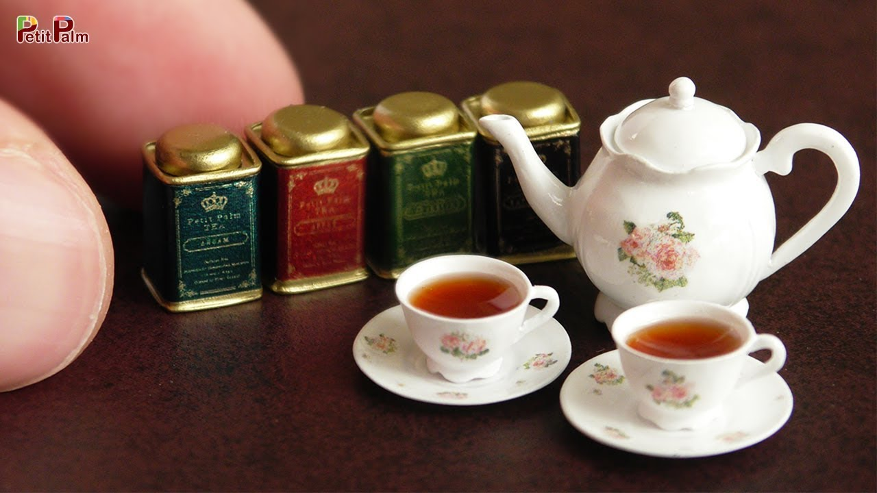 Diy Miniature Tea Pot Tea Cup Petit Palm Youtube