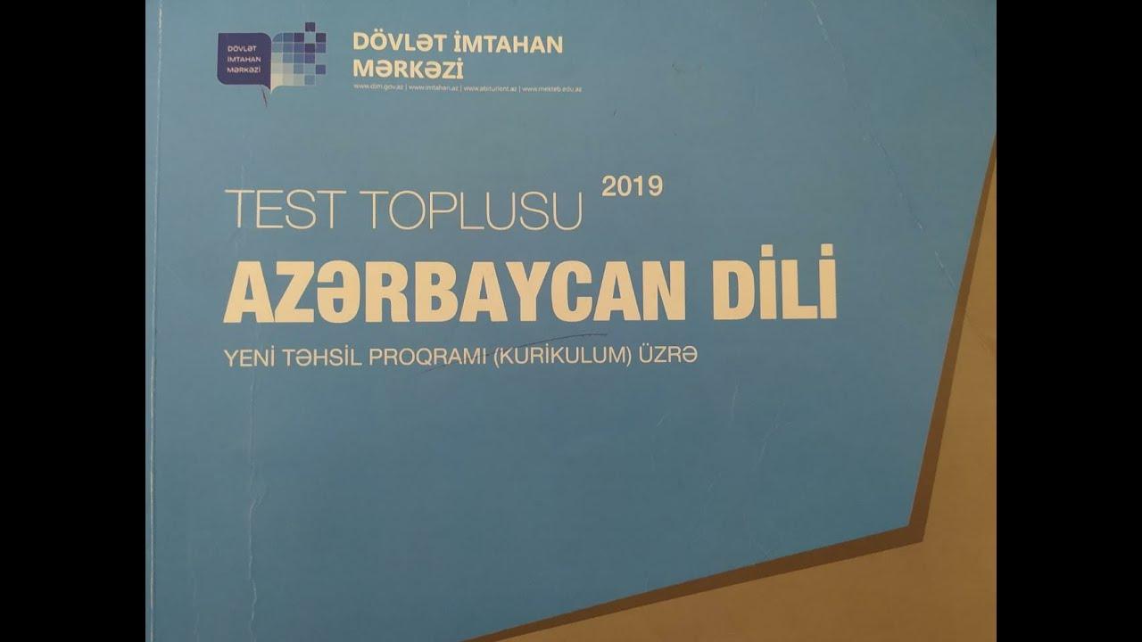 Azərbaycan dili I hissə test toplusu    Köməkçi nitq hissələri    Qoşma.