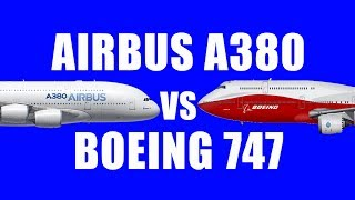 Top 10 Airlines - Airbus A380 vs Boeing 747..! Which is a better Airplane