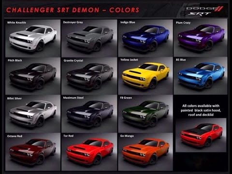 OFFICIAL DODGE DEMON COLOR CHART! PLUS MORE NEWS! - YouTube