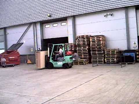 Forklift vs Wooden Box