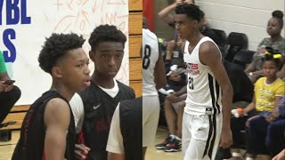 NEW JERSEY Backcourt gives Emoni Bates ALL he can handle! Teaneck invades Peach Jam!! 🍑